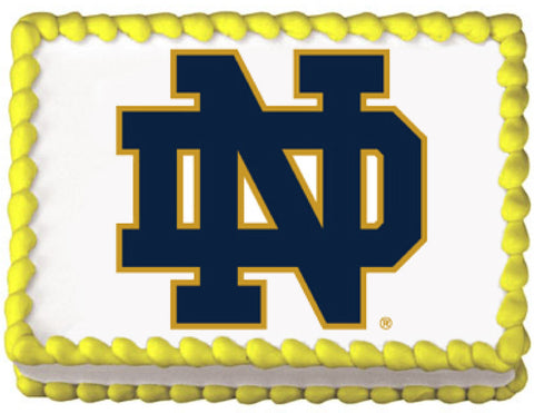 Notre Dame University Edible Cake, Cupcake & Cookie Topper