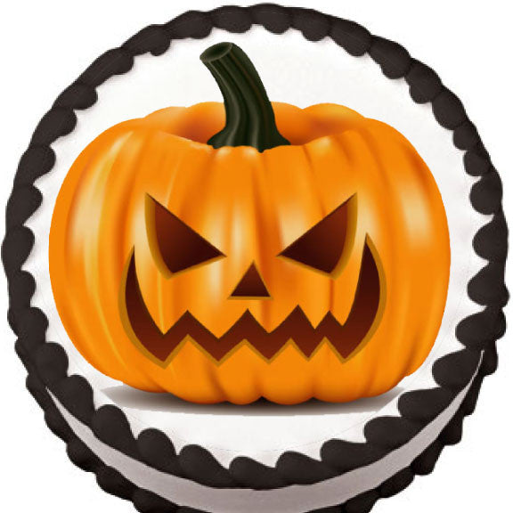 Jack o'Lantern Edible Cake, Cupcake & Cookie Topper