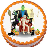 Halloween Ghouls Edible Cake, Cupcake & Cookie Topper