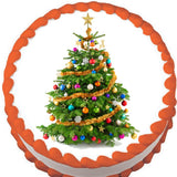 Christmas Tree Edible Cake, Cupcake & Cookie Topper