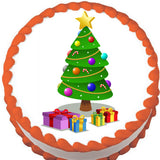 Presents around the Tree Christmas Edible Cake, Cupcake & Cookie Topper