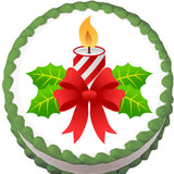Christmas Candle Edible Cake, Cupcake & Cookie Topper