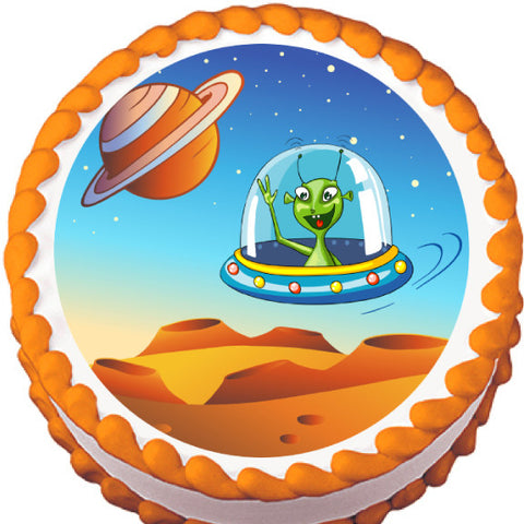 Alien Greetings Edible Cake, Cupcake & Cookie Topper
