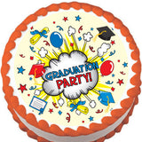 Graduation Party Edible Cake, Cupcake & Cookie Topper