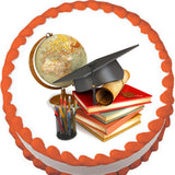 Graduation School Icons Edible Cake, Cupcake & Cookie Topper