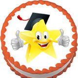 Graduate Star Edible Cake, Cupcake & Cookie Topper