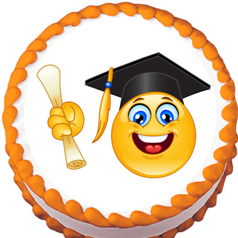 Happy Graduate Edible Cake, Cupcake & Cookie Topper