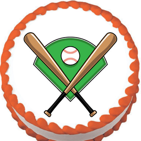 Baseball Icons Edible Cake, Cupcake & Cookie Topper