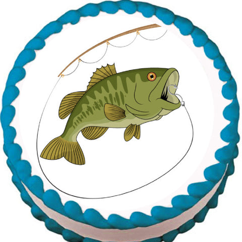 Big Mouth Fishing Edible Cake, Cupcake & Cookie Topper