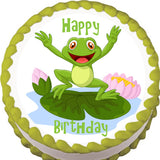 Happy Frog Edible Cake, Cupcake & Cookie Topper