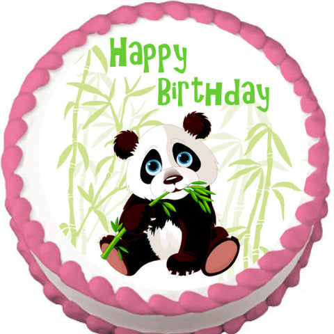 Panda and Bamboo Edible Cake, Cupcake & Cookie Topper