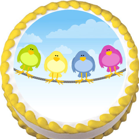 Birds on a Wire Edible Cake, Cupcake & Cookie Topper