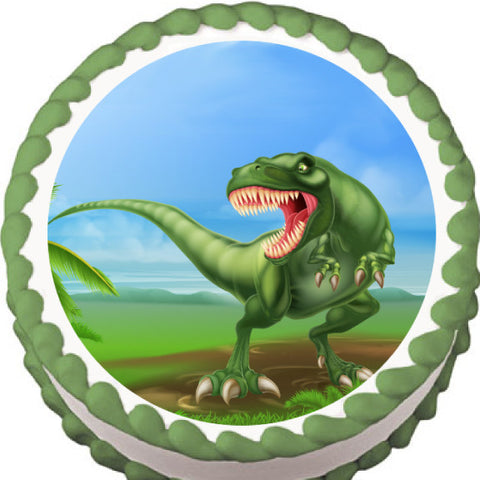 Roaring T-Rex Edible Cake, Cupcake & Cookie Topper