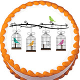 Bird Cages Edible Cake, Cupcake & Cookie Topper