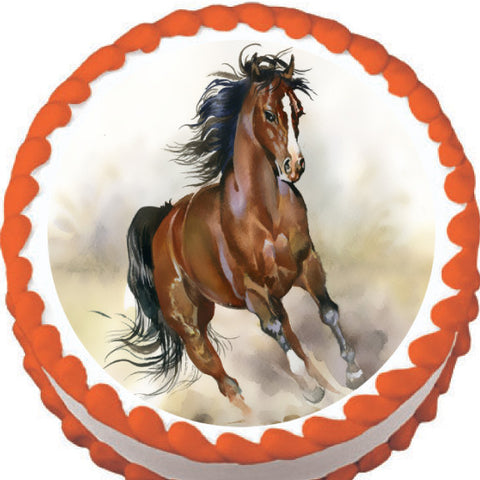 Horse Running Free Edible Cake, Cupcake & Cookie Topper