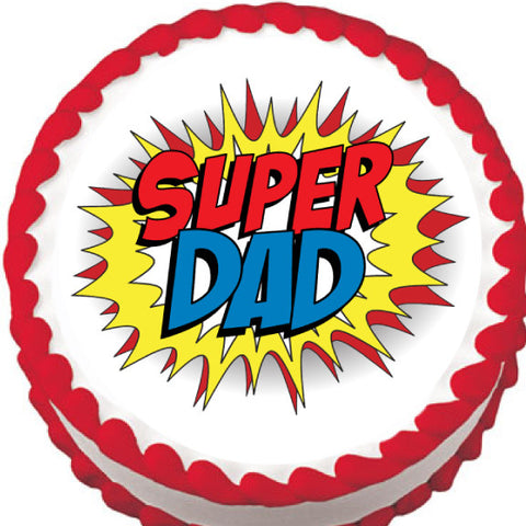 Super Dad Edible Cake, Cupcake & Cookie Topper