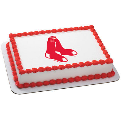 Boston Red Sox MLB Edible Cake, Cupcake & Cookie Topper