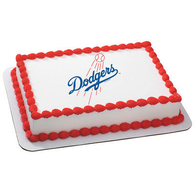 Los Angeles Dodgers MLB Edible Cake, Cupcake & Cookie Topper