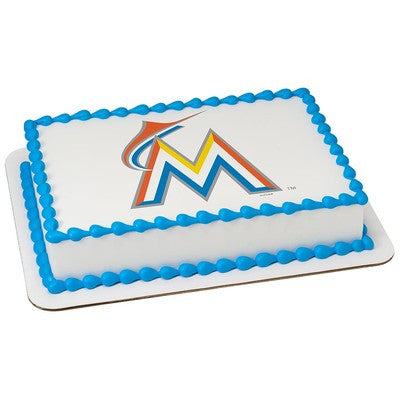 Miami Marlins MLB Edible Cake, Cupcake & Cookie Topper