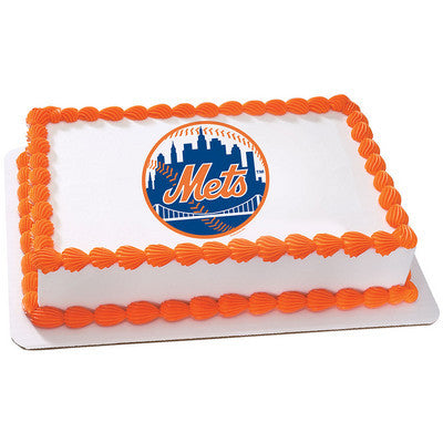 New York Mets MLB Edible Cake, Cupcake & Cookie Topper
