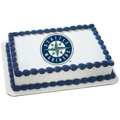 Seattle Mariners MLB Edible Cake, Cupcake & Cookie Topper