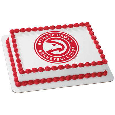 Atlanta Hawks NBA Edible Cake, Cupcake & Cookie Topper