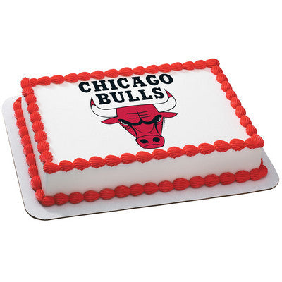Chicago Bulls NBA Edible Cake, Cupcake & Cookie Topper