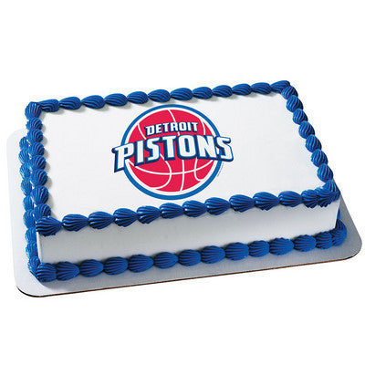 Detroit Pistons NBA Edible Cake, Cupcake & Cookie Topper