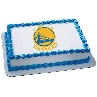 Golden State Warriors NBA Edible Cake, Cupcake & Cookie Topper