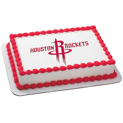 Houston Rockets NBA Edible Cake, Cupcake & Cookie Topper