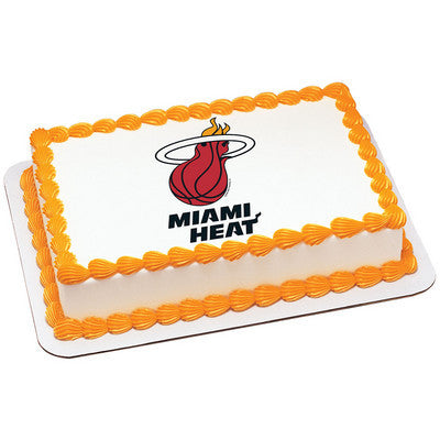 Miami Heat NBA Edible Cake, Cupcake & Cookie Topper
