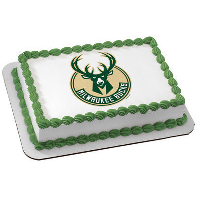 Milwaukee Bucks NBA Edible Cake, Cupcake & Cookie Topper