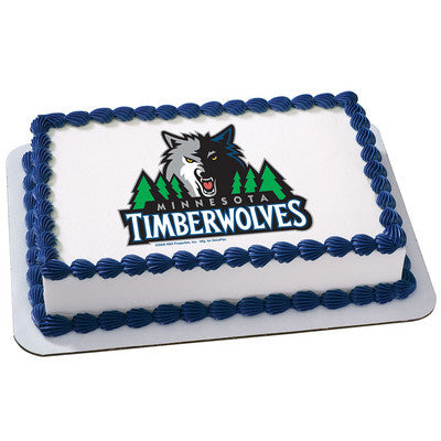 Minnesota Timberwolves NBA Edible Cake, Cupcake & Cookie Topper