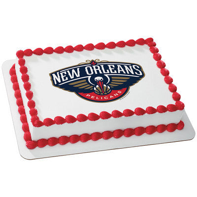 New Orleans Pelicans NBA Edible Cake, Cupcake & Cookie Topper