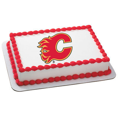 Calgary Flames NHL Edible Cake, Cupcake & Cookie Topper