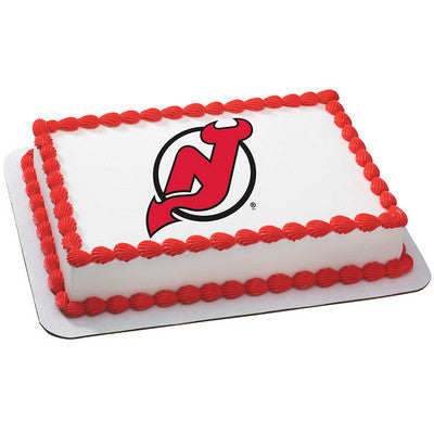 New Jersey Devils NHL Edible Cake, Cupcake & Cookie Topper