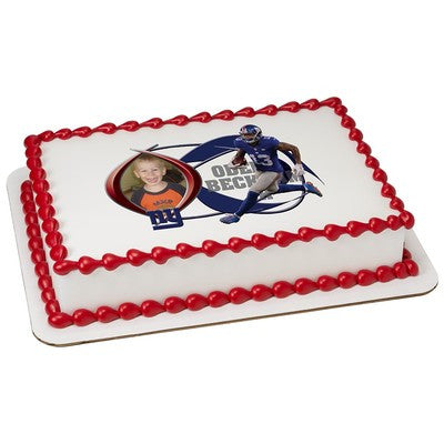New York Giants Odell Beckham Jr Picture Frame NFL Edible Cake, Cupcake & Cookie Topper