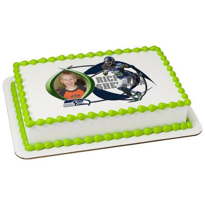Seattle Seahawks Richard Sherman Picture Frame NFL Edible Cake, Cupcake & Cookie Topper