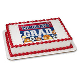 Congrats Grad Sports Edible Cake, Cupcake & Cookie Topper