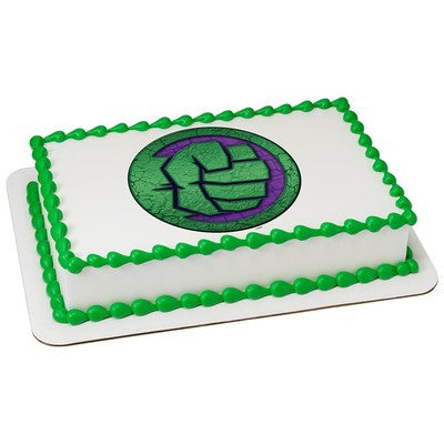 Hulk Fist Icon Edible Cake, Cupcake & Cookie Topper