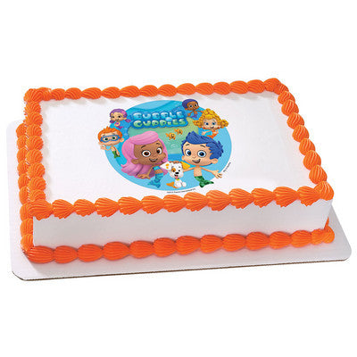 Bubble Guppies Gil and Molly Edible Cake, Cupcake & Cookie Topper