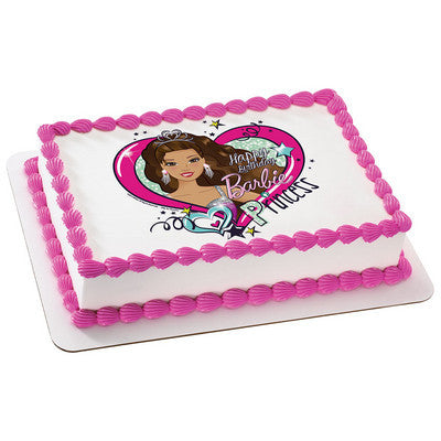 Barbie Party Princess Edible Cake, Cupcake & Cookie Topper