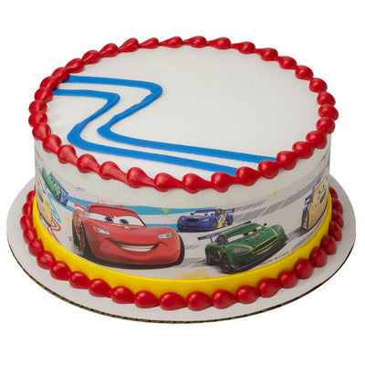 Cars Pedal to the Metal Edible Cake Side Print