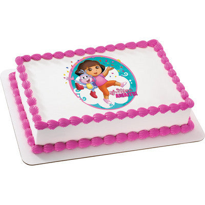 Dora the Explorer Adventure Awaits Edible Cake, Cupcake & Cookie Topper