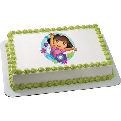 Dora the Explorer Flowers Edible Cake, Cupcake & Cookie Topper