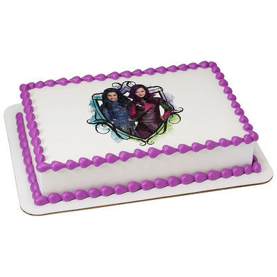 Descendants Auradon Cool Edible Cake, Cupcake & Cookie Topper