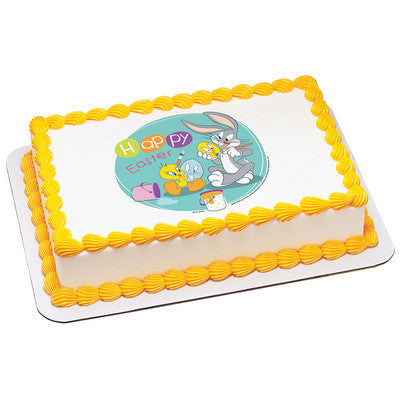 Looney Tunes Happy Easter Edible Cake, Cupcake & Cookie Topper