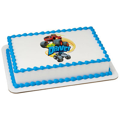 Blaze and the Monster Machines I've Got Drive! Edible Cake, Cupcake & Cookie Topper