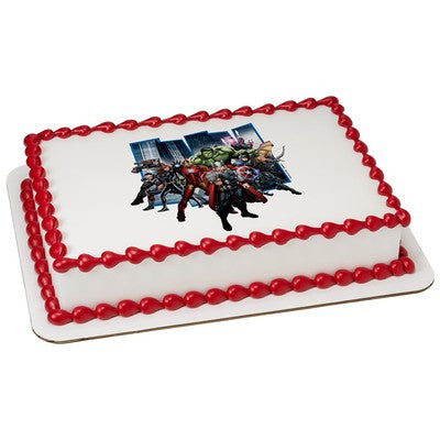 Avengers Earth's Mightiest Hero Edible Cake, Cupcake & Cookie Topper