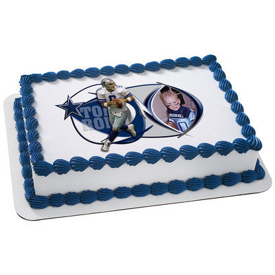 Dallas Cowboys Tony Romo Picture Frame NFL Edible Cake, Cupcake & Cookie Topper